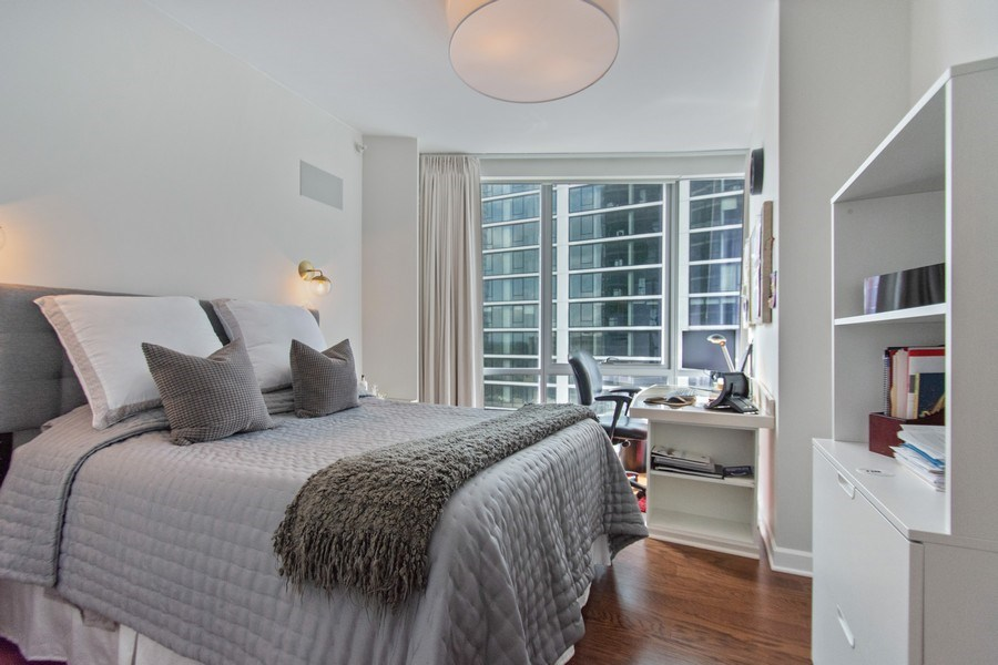 Real Estate Photography - 1201 S. Prairie Avenue, Unit 601, Chicago, IL, 60605 - Bedroom
