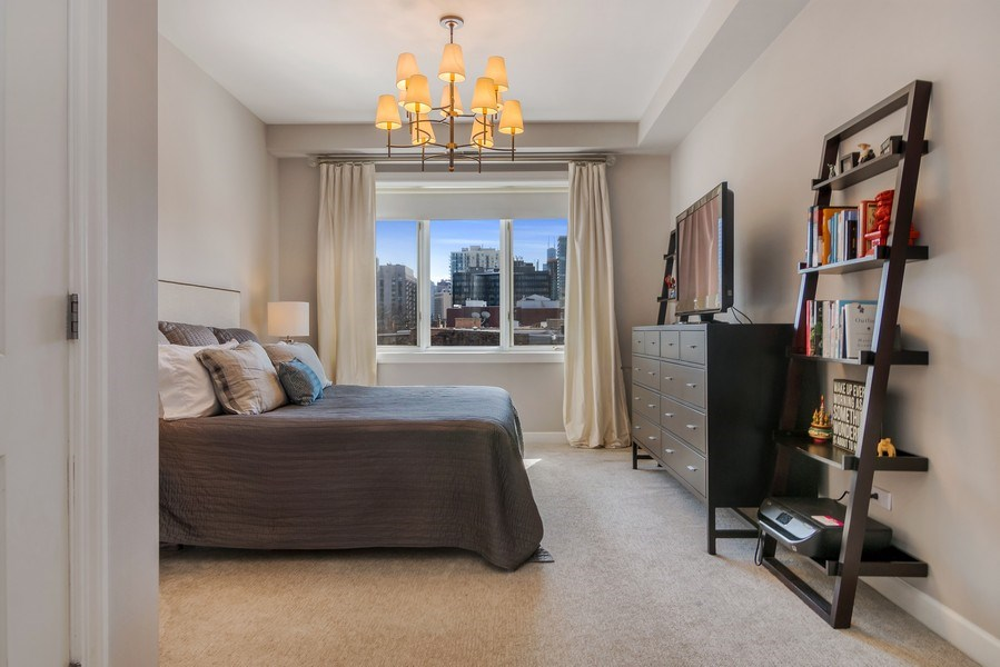 Real Estate Photography - 1429 N. Wells Street, Unit 502, Chicago, IL, 60610 - Master Bedroom