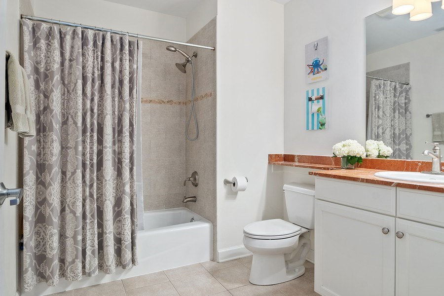 Real Estate Photography - 1429 N. Wells Street, Unit 502, Chicago, IL, 60610 - Second Bathroom