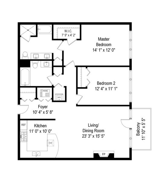 Real Estate Photography - 1429 N. Wells Street, Unit 502, Chicago, IL, 60610 - Floor Plan