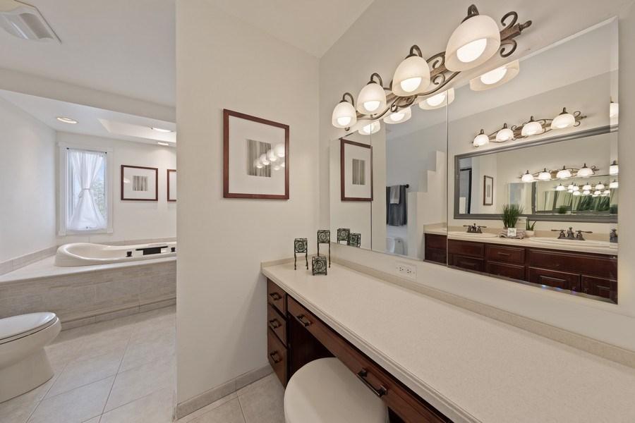 Real Estate Photography - 301 Fox Hunt Trail, Barrington, IL, 60010 - Master Bathroom