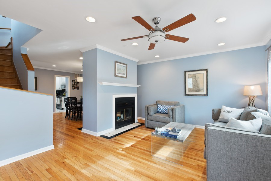 Real Estate Photography - 1810 N Fremont Street, Unit 12, Chicago, IL, 60614 - Living Room