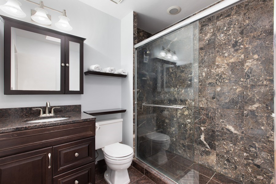 Real Estate Photography - 1810 N Fremont Street, Unit 12, Chicago, IL, 60614 - Master Bathroom