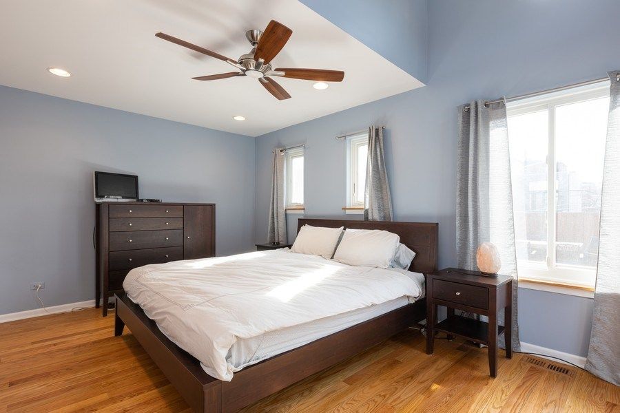 Real Estate Photography - 1810 N Fremont Street, Unit 12, Chicago, IL, 60614 - Master Bedroom