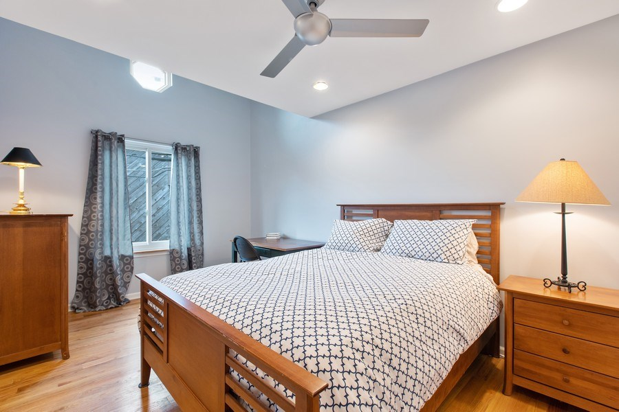 Real Estate Photography - 1810 N Fremont Street, Unit 12, Chicago, IL, 60614 - Bedroom