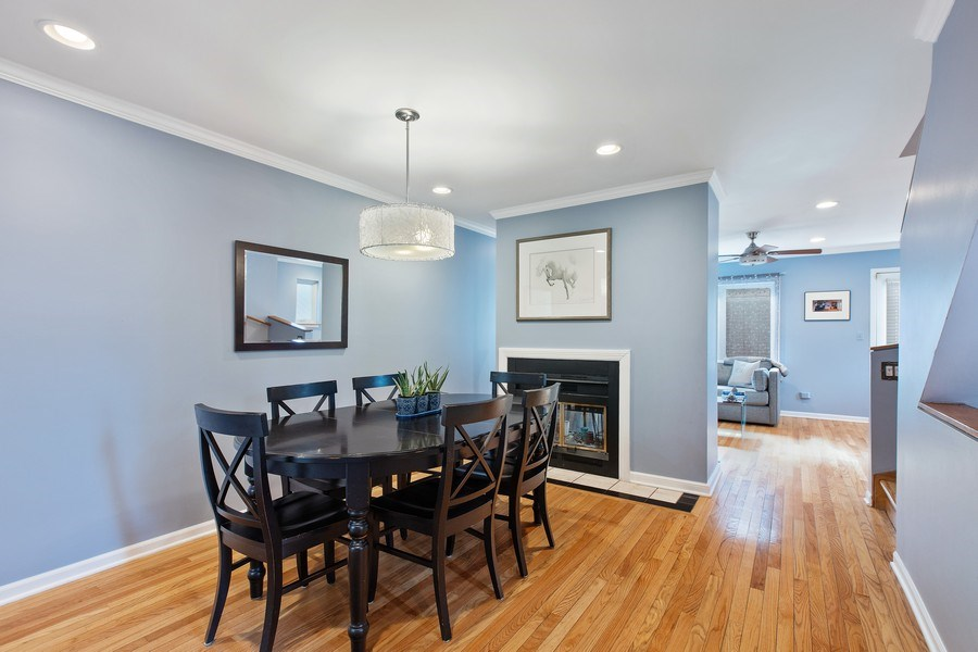 Real Estate Photography - 1810 N Fremont Street, Unit 12, Chicago, IL, 60614 - Dining Room