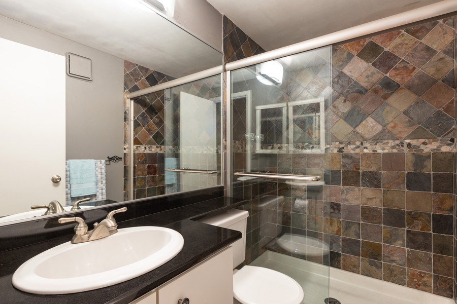 Real Estate Photography - 1810 N Fremont Street, Unit 12, Chicago, IL, 60614 - 2nd Bathroom
