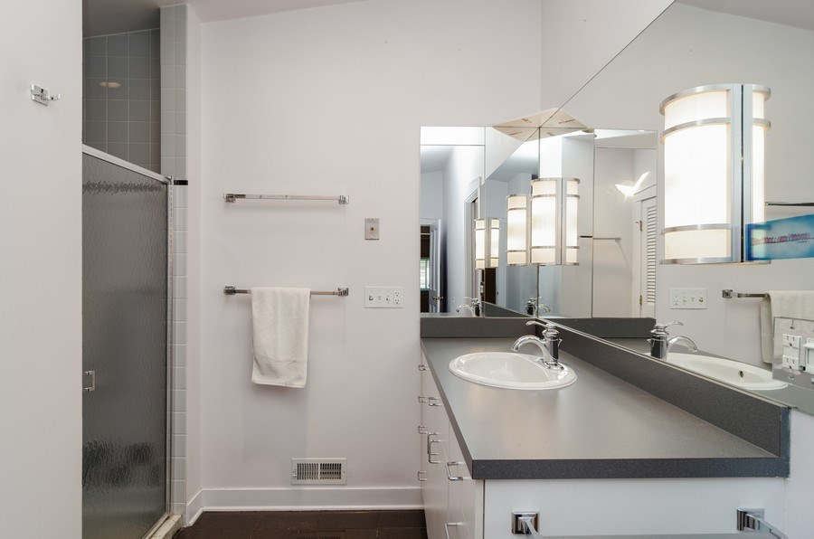 Real Estate Photography - 4506 N. Richmond Street, Chicago, IL, 60625 - Master Bathroom