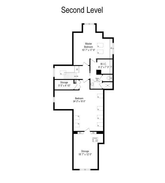 Real Estate Photography - 4506 N. Richmond Street, Chicago, IL, 60625 - Floor Plan