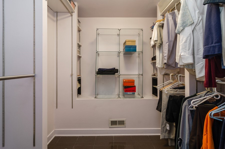 Real Estate Photography - 4506 N. Richmond Street, Chicago, IL, 60625 - Master Bedroom Closet