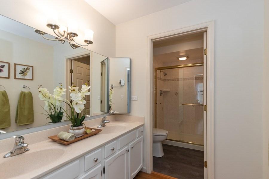 Real Estate Photography - 4980 Oak Ln, Gurnee, IL, 60031 - Master Bathroom