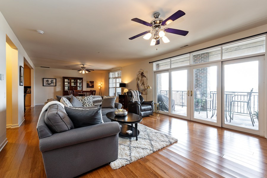 Real Estate Photography - 151 WING Street, Unit 506, Arlington Heights, IL, 60005 - Living Room