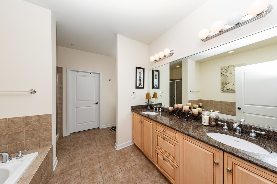 Real Estate Photography - 151 WING Street, Unit 506, Arlington Heights, IL, 60005 - Master Bathroom
