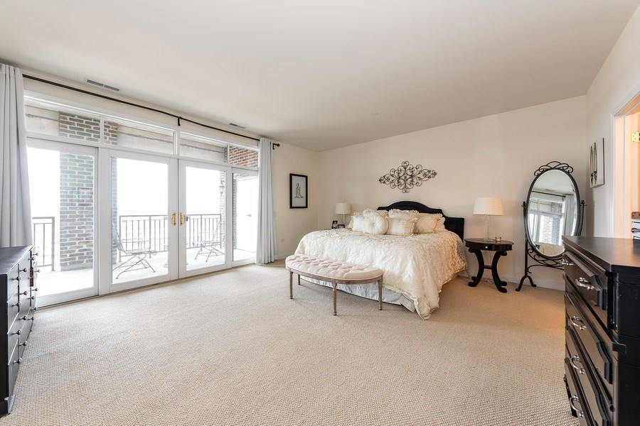 Real Estate Photography - 151 WING Street, Unit 506, Arlington Heights, IL, 60005 - Master Bedroom