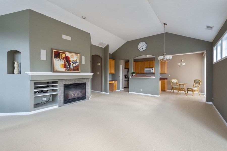 Real Estate Photography - 355 Promontory Lane, Unit B, Wauconda, IL, 60084 - Living Room / Dining Room