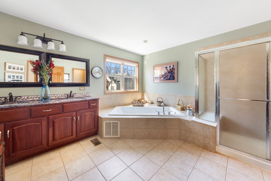 Real Estate Photography - 641 W. Ruhl Road, Palatine, IL, 60074 - Master Bathroom