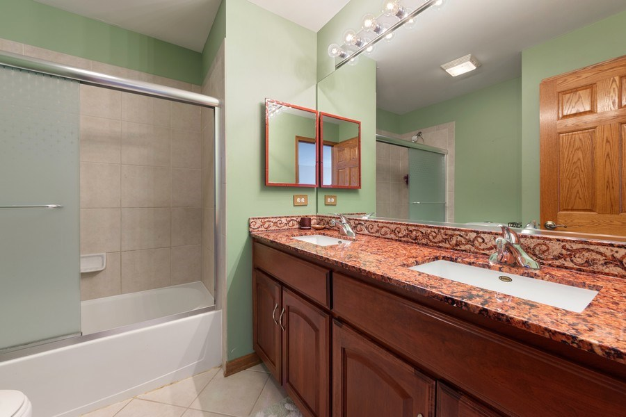 Real Estate Photography - 641 W. Ruhl Road, Palatine, IL, 60074 - 2nd Bathroom