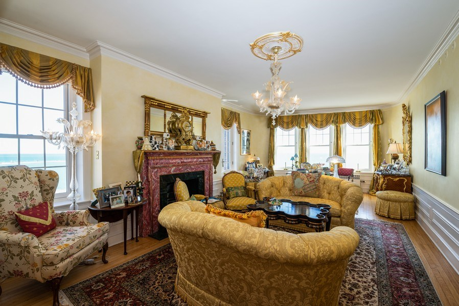 Real Estate Photography - 1120 N. LAKE SHORE Drive, Unit 12B, Chicago, IL, 60611 - Living Room