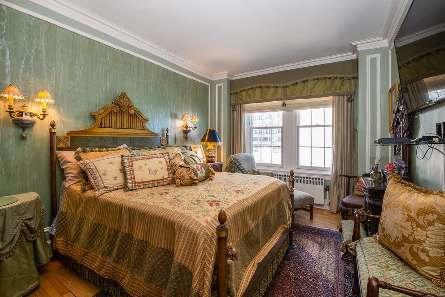 Real Estate Photography - 1120 N. LAKE SHORE Drive, Unit 12B, Chicago, IL, 60611 - Master Bedroom