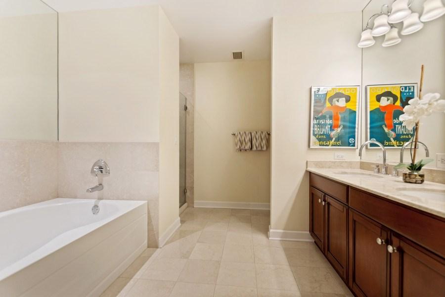 Real Estate Photography - 1335 S. Prairie Avenue, Unit 504, Chicago, IL, 60605 - Master Bathroom