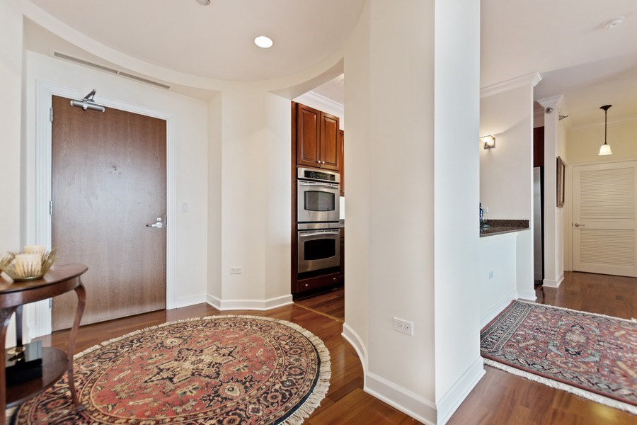 Real Estate Photography - 1335 S. Prairie Avenue, Unit 504, Chicago, IL, 60605 - Entryway  and Kitchen
