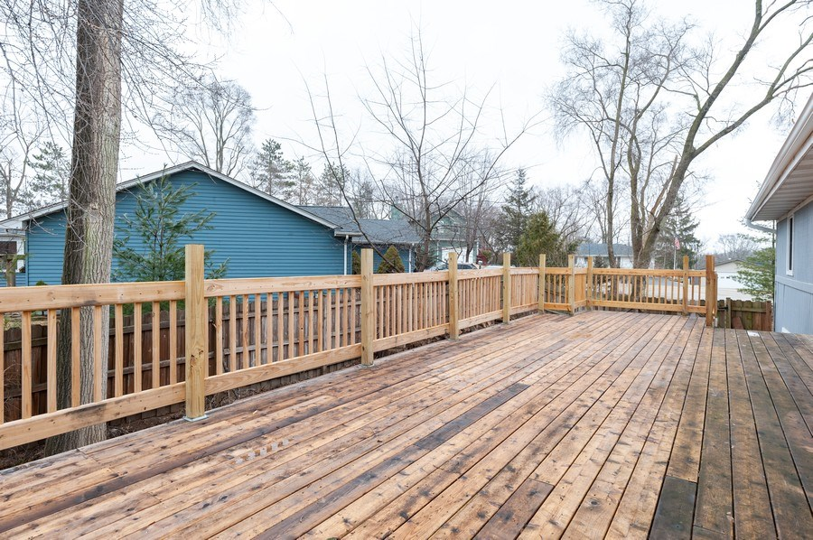 Real Estate Photography - 25950 W. Kathryn Drive, Antioch, IL, 60002 - Deck