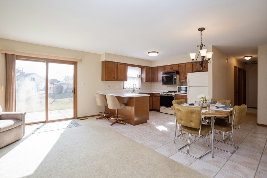 Real Estate Photography - 31 N. Lombard Road, Addison, IL, 60101 - Family Room / Kitchen