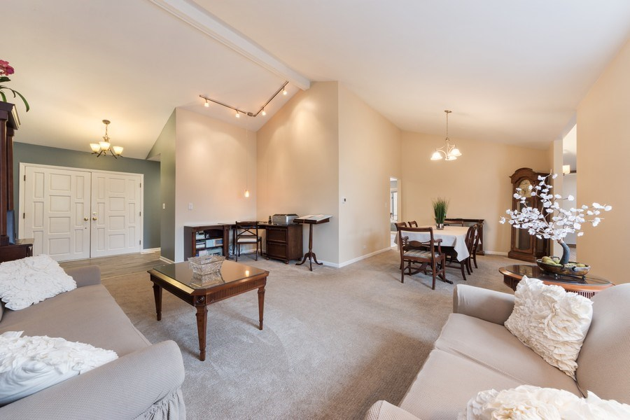 Real Estate Photography - 1911 E. Peachtree Lane, Arlington Heights, IL, 60004 - Living Room / Dining Room