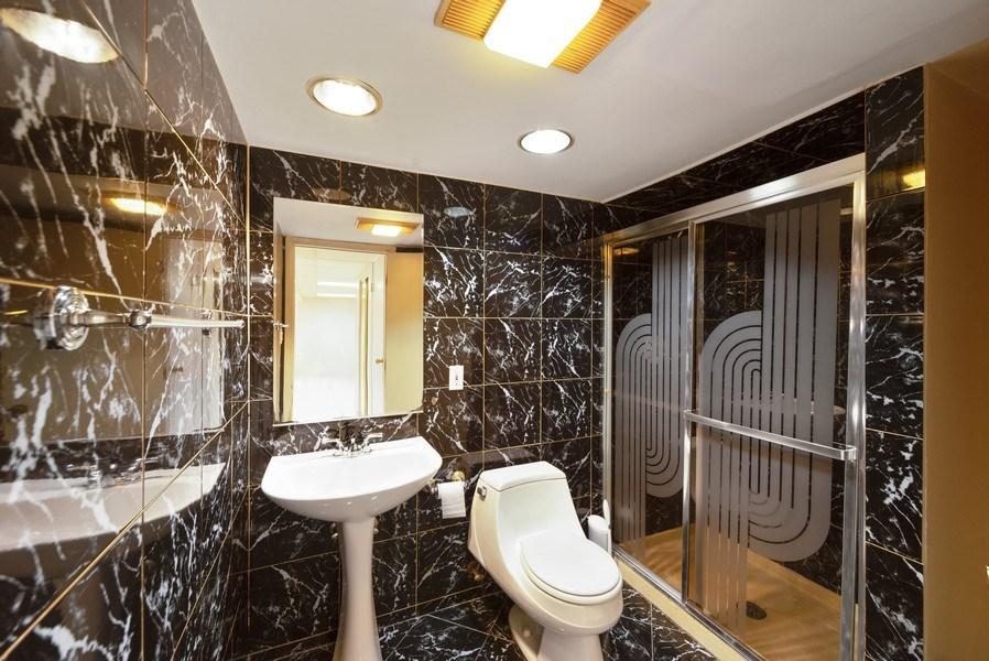 Real Estate Photography - 5037 HAROLD Avenue, Schiller Park, IL, 60176 - 2nd Bathroom