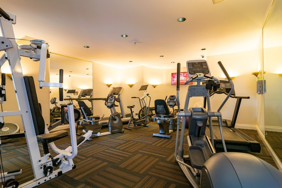 Real Estate Photography - 318 Torrington Drive, Bloomingdale, IL, 60108 - CLUBHOUSE EXERCISE ROOM