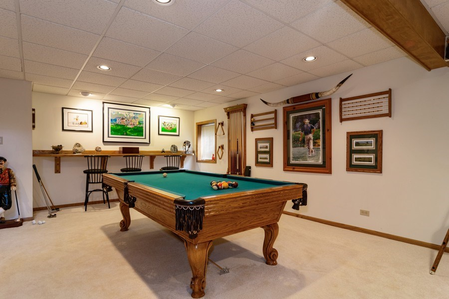 Real Estate Photography - 318 Torrington Drive, Bloomingdale, IL, 60108 - Rec-Room Game Area