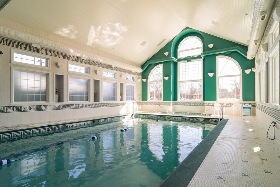Real Estate Photography - 318 Torrington Drive, Bloomingdale, IL, 60108 - CLUBHOUSE INDOOR POOL/OUTDOOR POOL