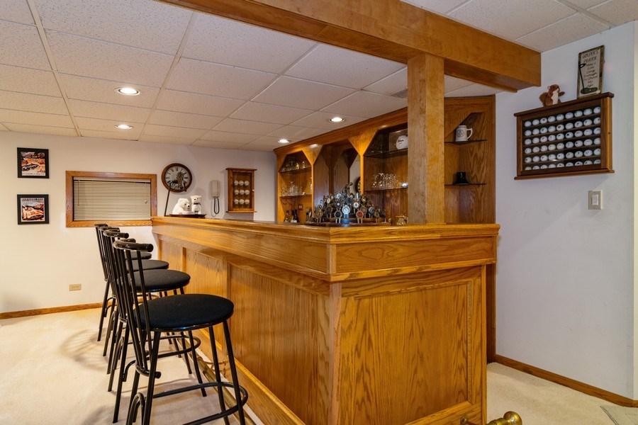 Real Estate Photography - 318 Torrington Drive, Bloomingdale, IL, 60108 - Recreational Room BAr