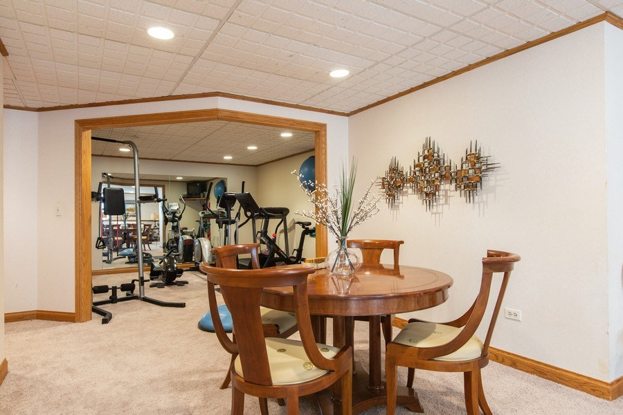 Real Estate Photography - 107 BRIDGEWATER Court, Naperville, IL, 60565 - BASEMENT EXERCISE ROOM