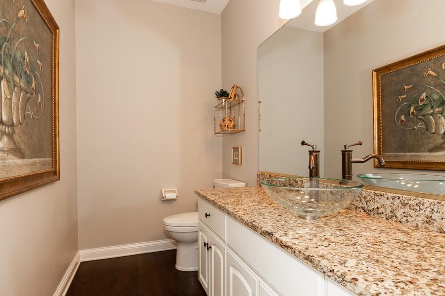 Real Estate Photography - 107 BRIDGEWATER Court, Naperville, IL, 60565 - POWDER ROOM
