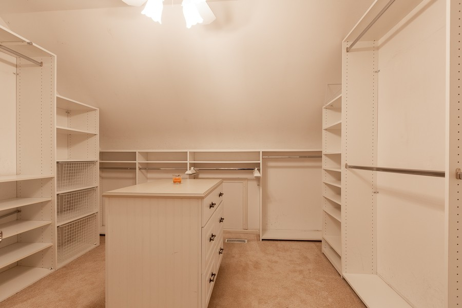Real Estate Photography - 107 BRIDGEWATER Court, Naperville, IL, 60565 - MASTER BEDROOM WALK-IN CLOSET