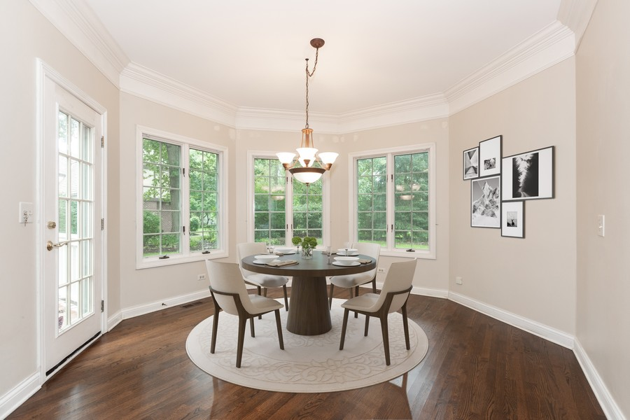 Real Estate Photography - 107 BRIDGEWATER Court, Naperville, IL, 60565 - Virtual Staged Kitchen Eating Area