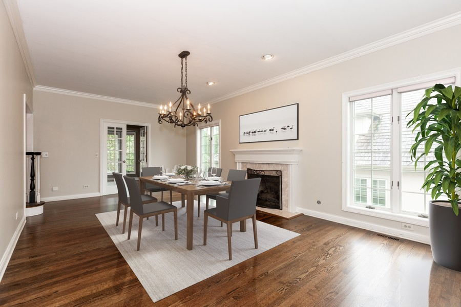Real Estate Photography - 107 BRIDGEWATER Court, Naperville, IL, 60565 - Virtual Staged Dining Room