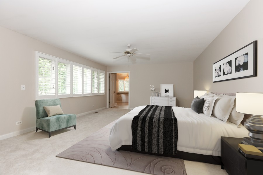 Real Estate Photography - 107 BRIDGEWATER Court, Naperville, IL, 60565 - Virtual Staged Master Bedroom