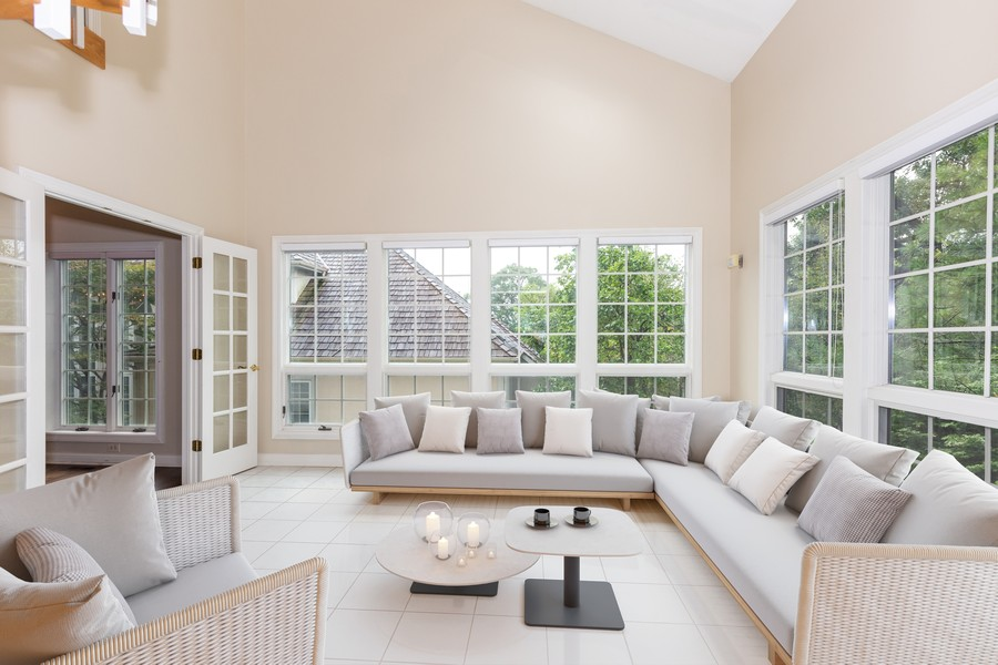 Real Estate Photography - 107 BRIDGEWATER Court, Naperville, IL, 60565 - Virtual Staged Sun Room