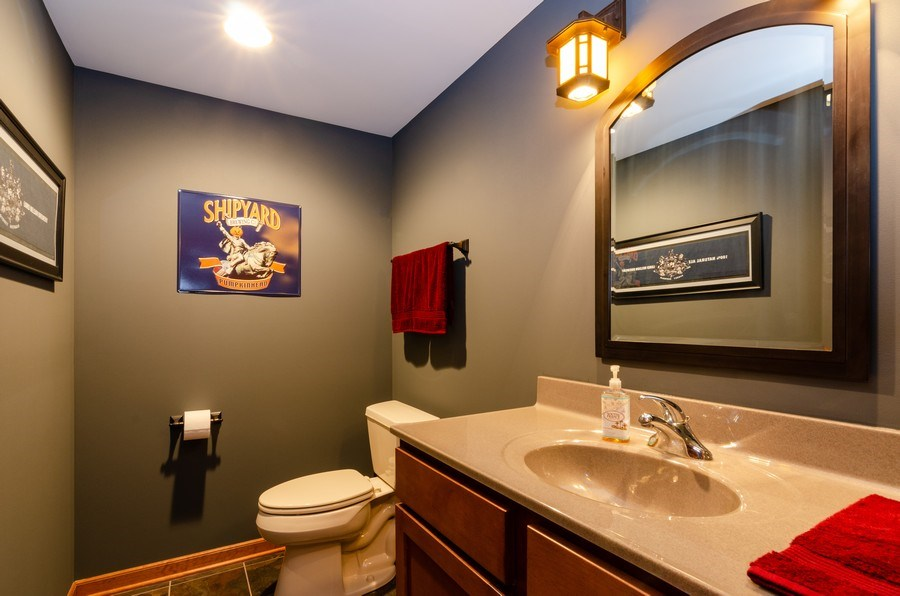 Real Estate Photography - 904 Tipperary Street, Gilberts, IL, 60136 - Basement powder room