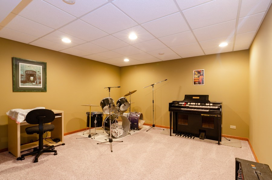 Real Estate Photography - 904 Tipperary Street, Gilberts, IL, 60136 - Bas.: Sound proof music room