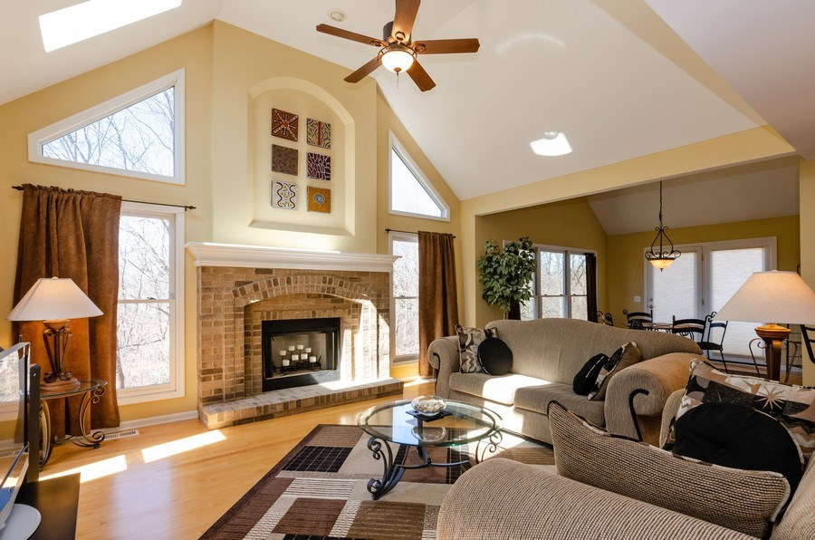 Real Estate Photography - 904 Tipperary Street, Gilberts, IL, 60136 - Family room/Open floor plan