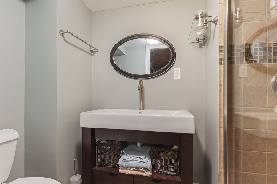 Real Estate Photography - 1104 Foxworth Boulevard, Lombard, IL, 60148 - 3rd Bathroom