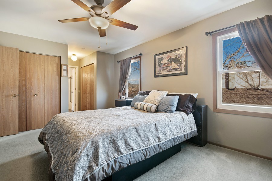 Real Estate Photography - 1104 Foxworth Boulevard, Lombard, IL, 60148 - Master Bedroom