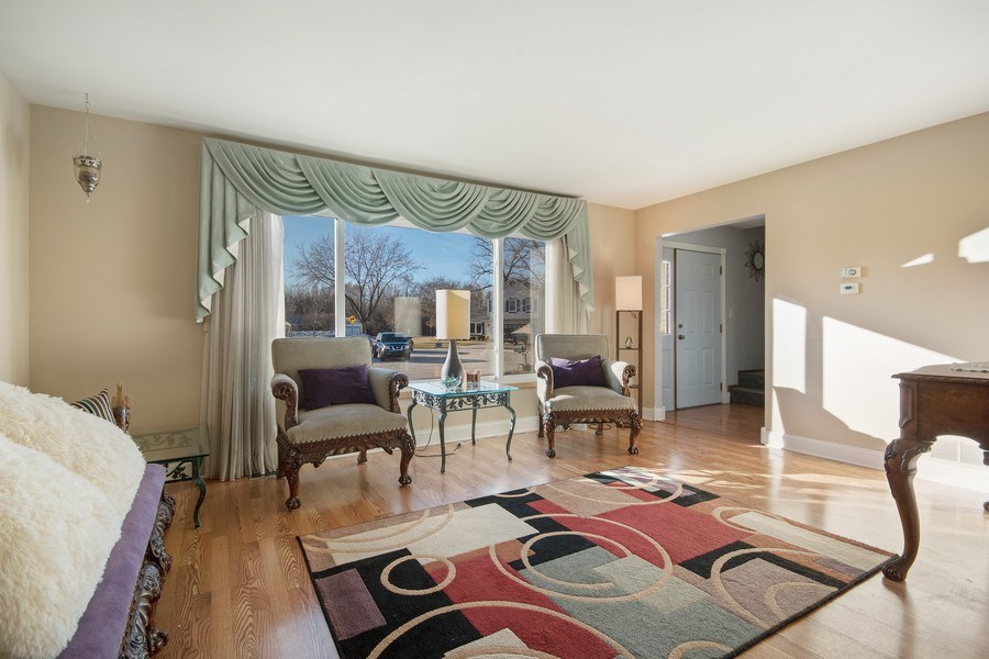 Real Estate Photography - 1104 Foxworth Boulevard, Lombard, IL, 60148 - Living Room