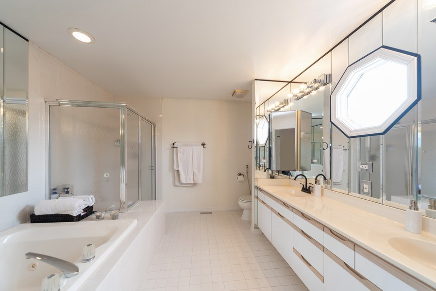 Real Estate Photography - 440 Meyerson Way, Wheeling, IL, 60090 - Master Bathroom