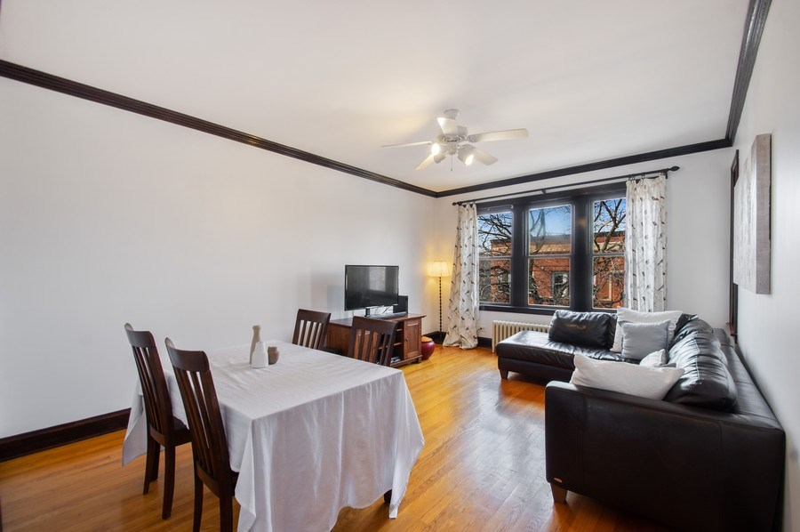 Real Estate Photography - 1307 W. Rosemont Avenue, Unit 3, Chicago, IL, 60660 - Living Room