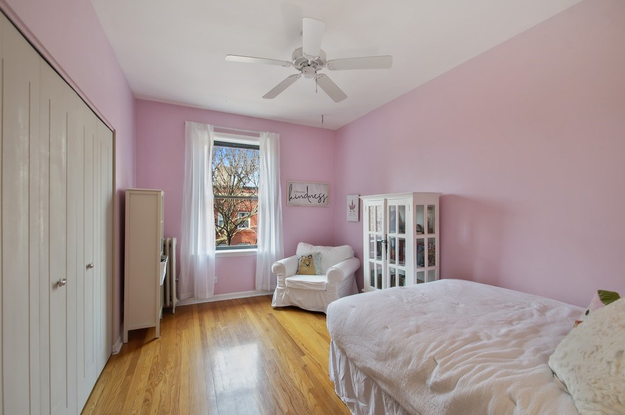 Real Estate Photography - 1307 W. Rosemont Avenue, Unit 3, Chicago, IL, 60660 - 2nd Bedroom