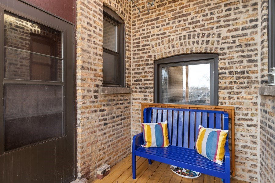 Real Estate Photography - 1307 W. Rosemont Avenue, Unit 3, Chicago, IL, 60660 - Deck